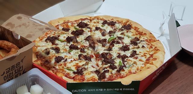 pizza v krabici