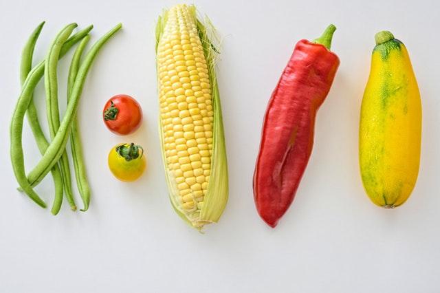 kukuřice a paprika