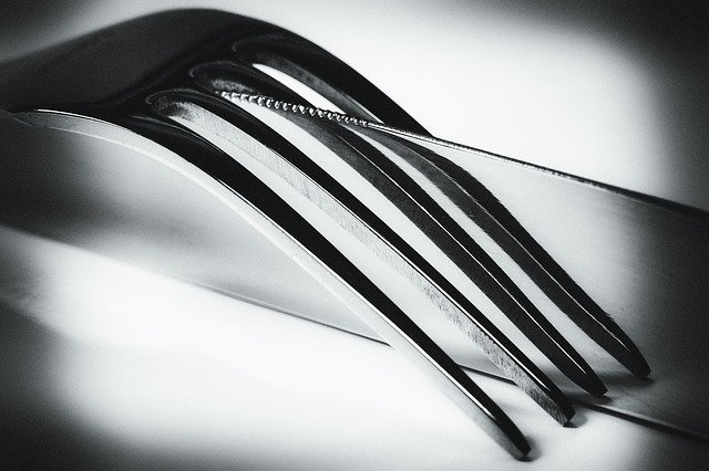 detail nože